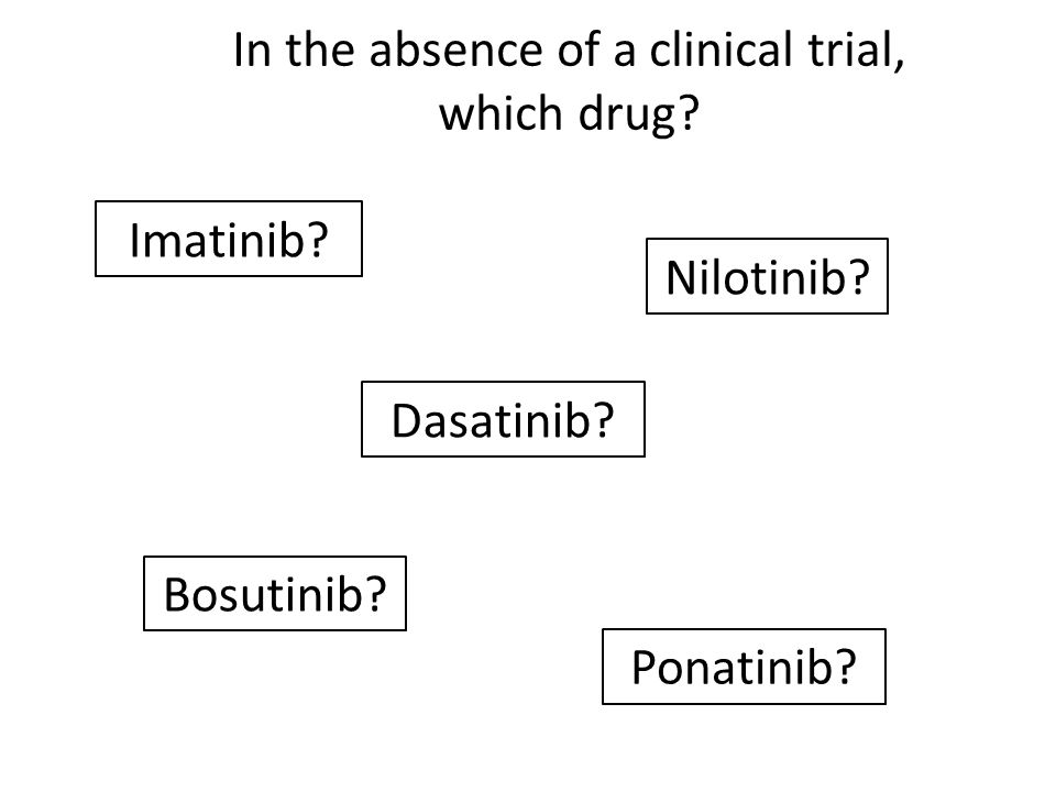 In the absence of a clinical trial, which drug