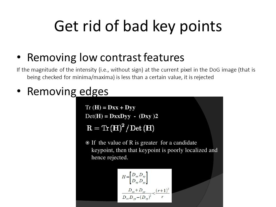 Get rid of bad key points