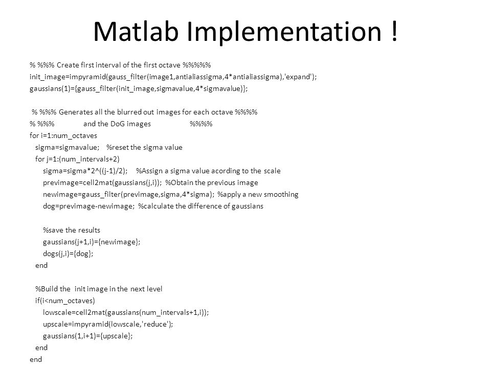 Matlab Implementation !