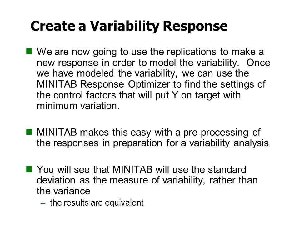 Create a Variability Response