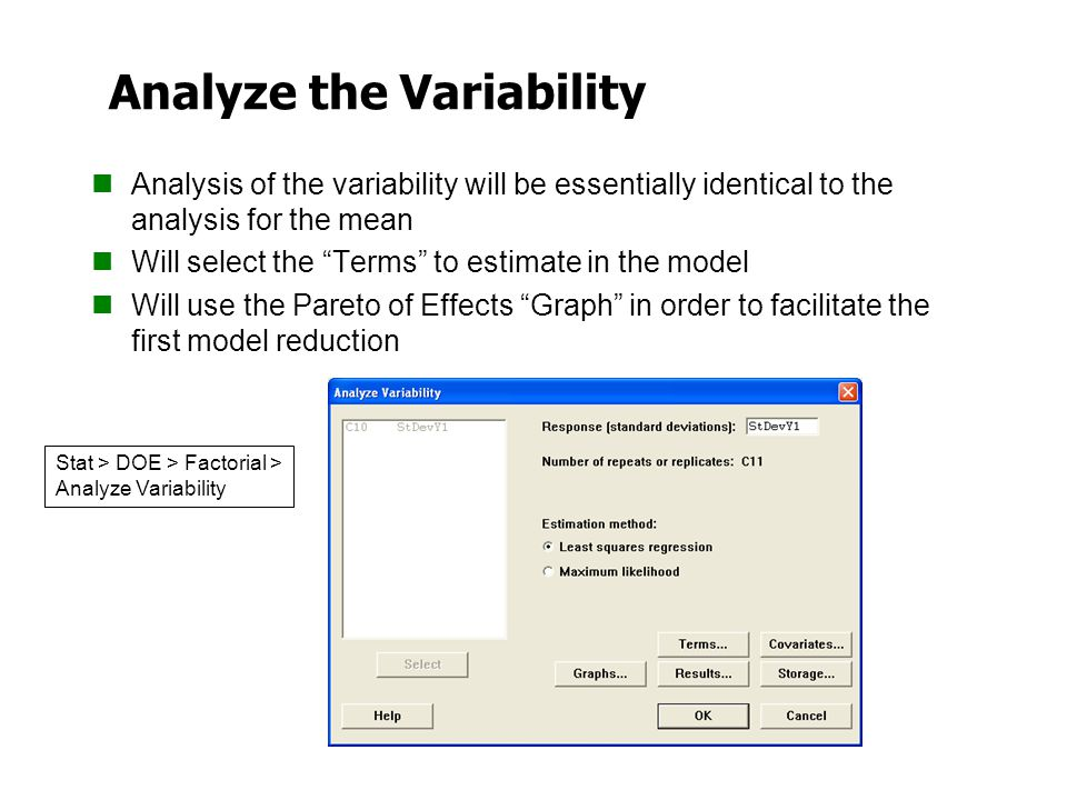 Analyze the Variability