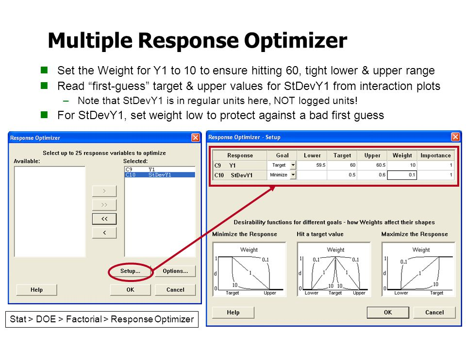 Multiple Response Optimizer