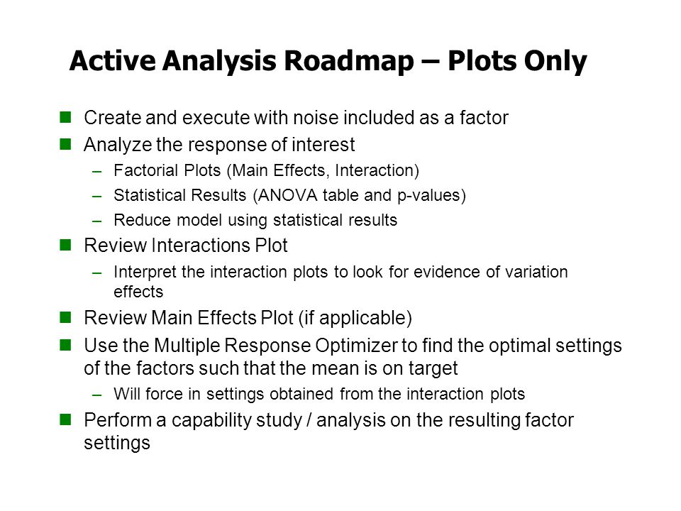 Active Analysis Roadmap – Plots Only