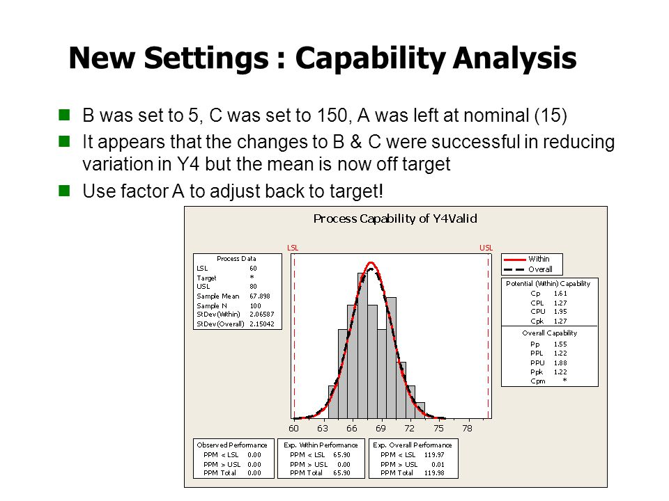 New Settings : Capability Analysis
