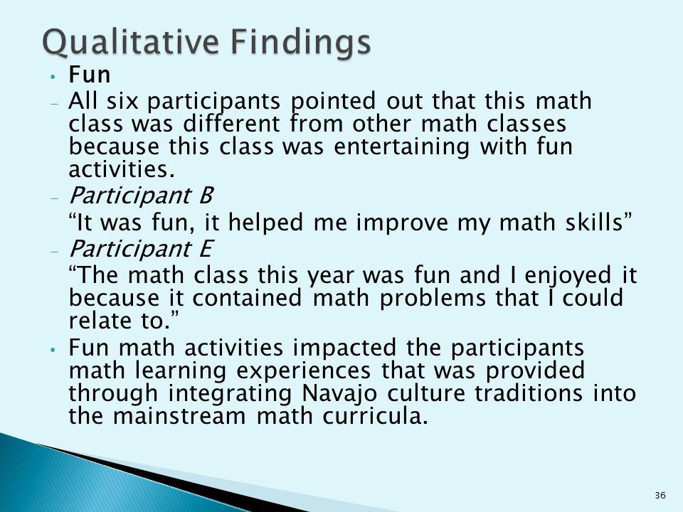 Qualitative Findings Fun