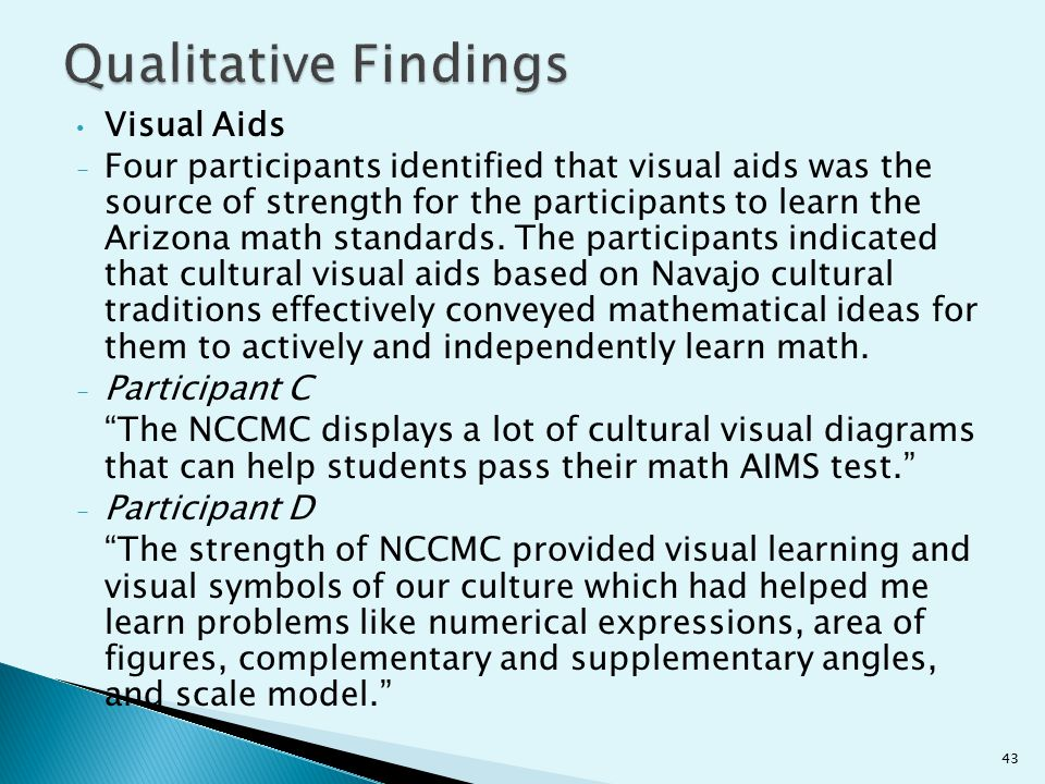 Qualitative Findings Visual Aids