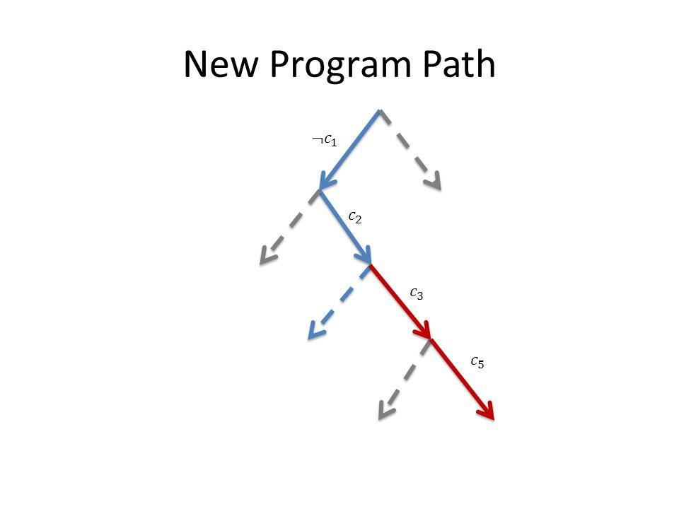 New Program Path ¬𝑐 1 𝑐 2 𝑐 3 𝑐 5
