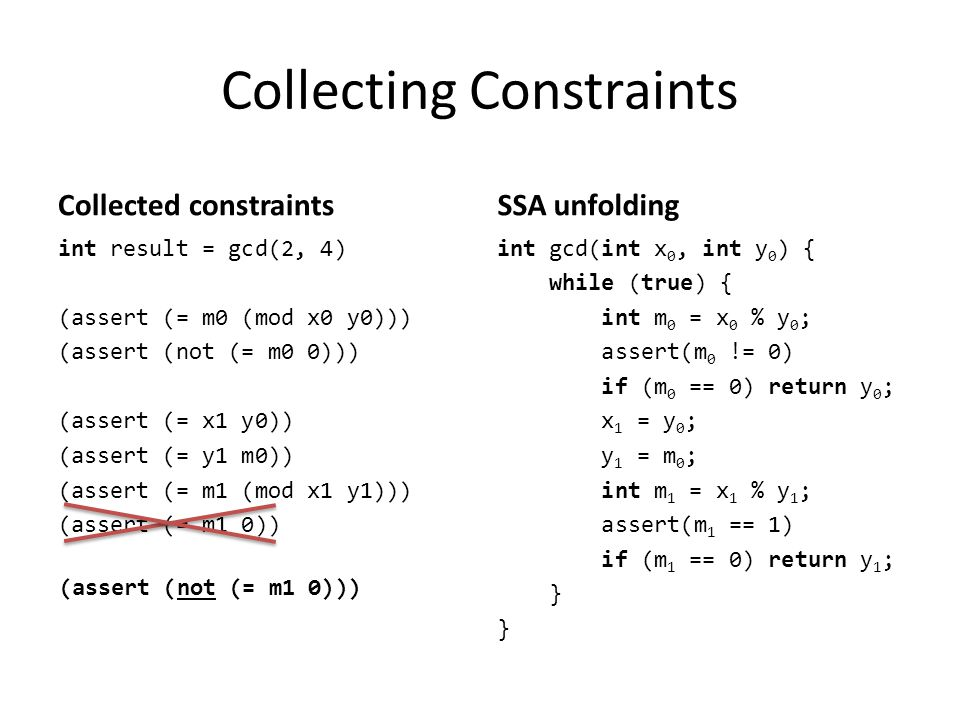Collecting Constraints