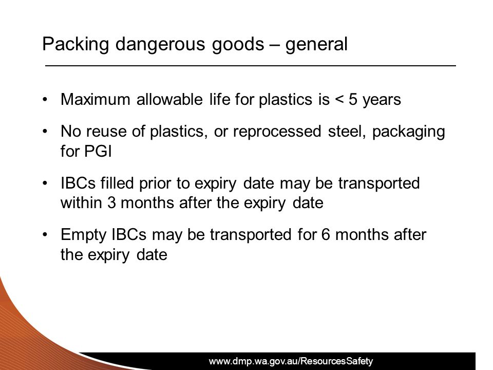 Packing dangerous goods – general