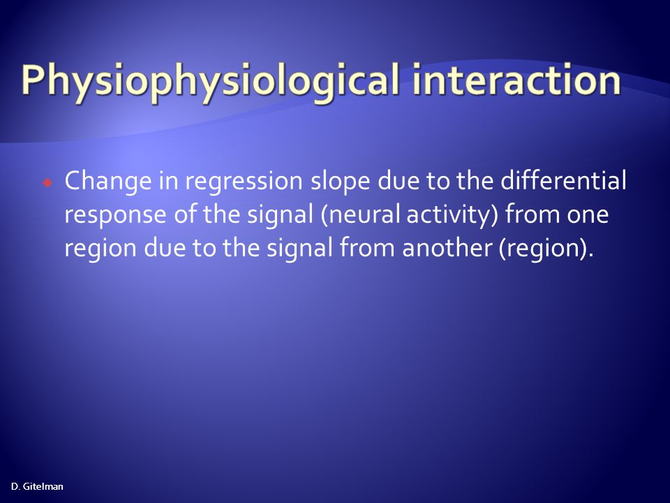 Physiophysiological interaction