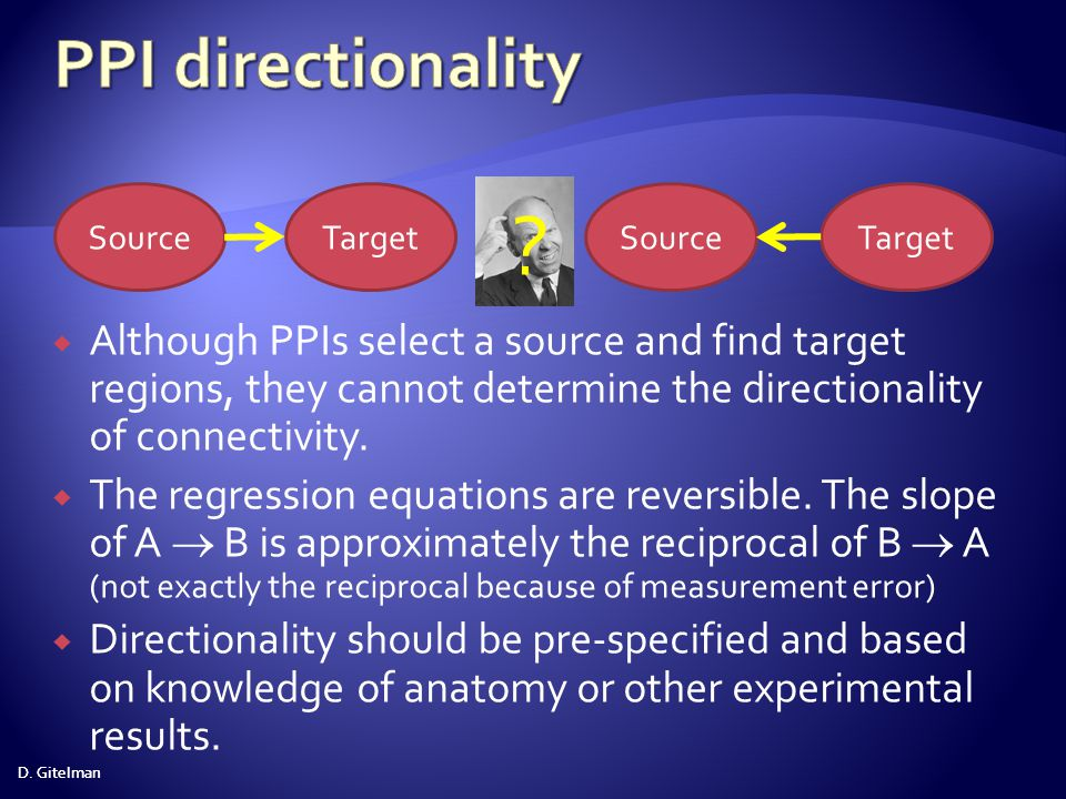 PPI directionality Source. Target. Source. Target.