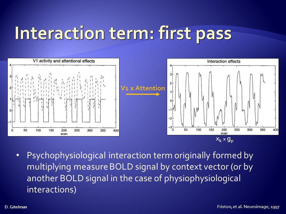 Interaction term: first pass