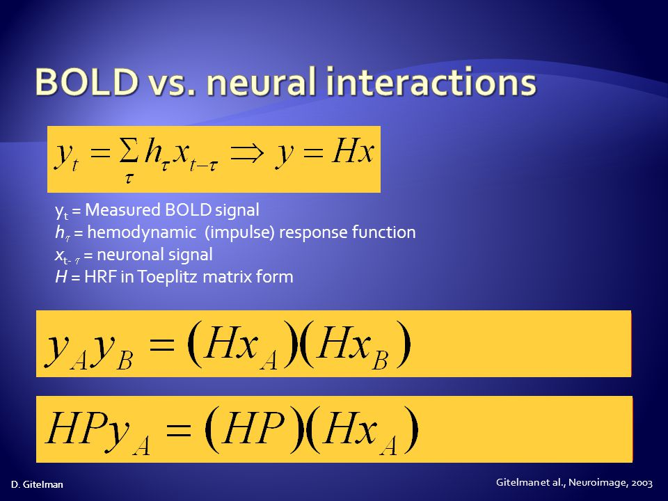 BOLD vs. neural interactions