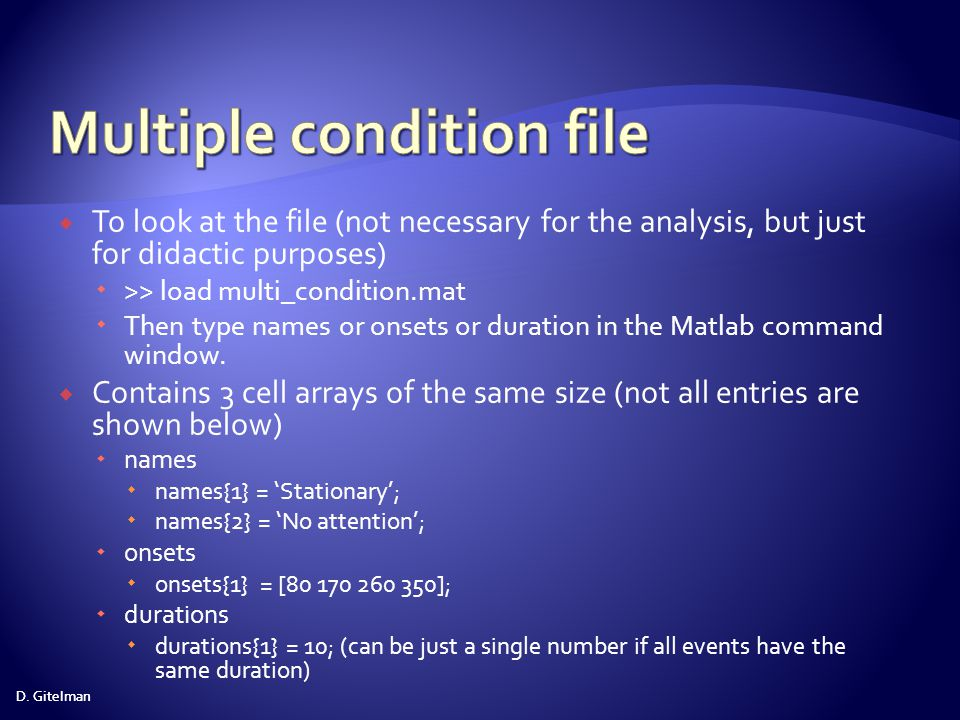 Multiple condition file