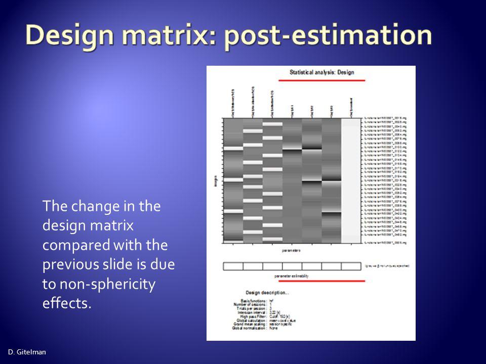 Design matrix: post-estimation
