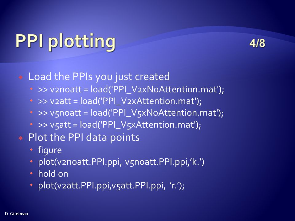 PPI plotting 4/8 Load the PPIs you just created