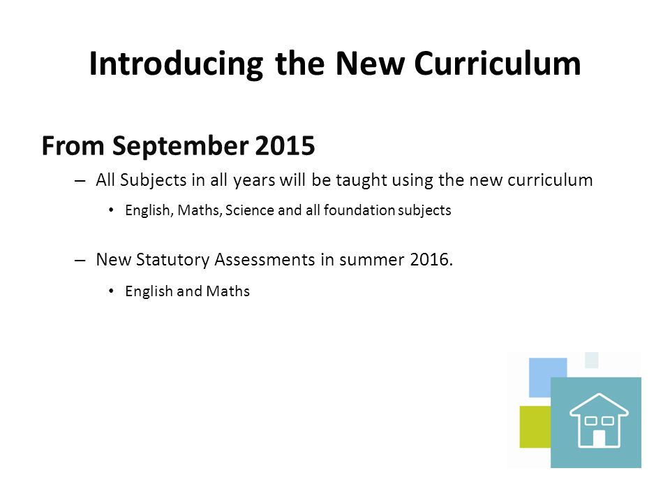 Introducing the New Curriculum