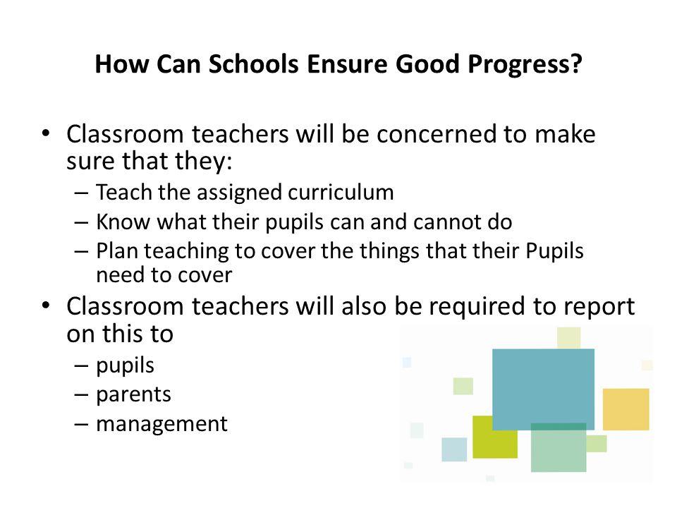 How Can Schools Ensure Good Progress