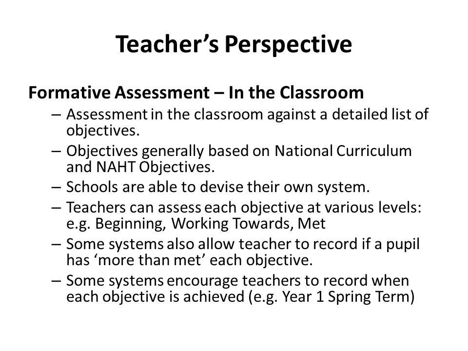 Teacher's Perspective