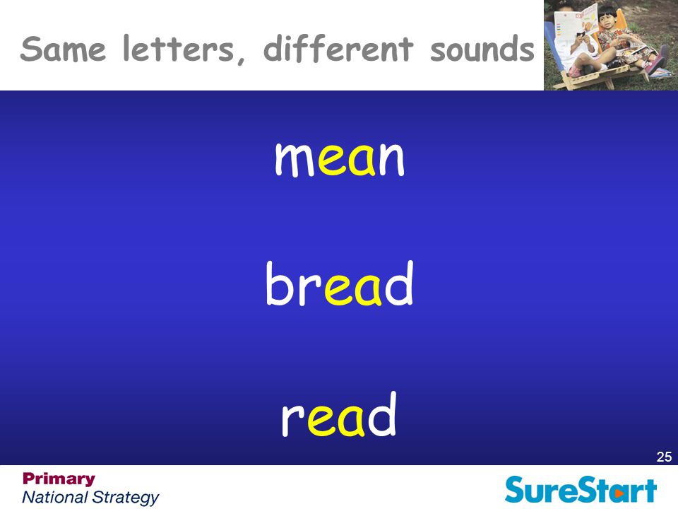 Same letters, different sounds