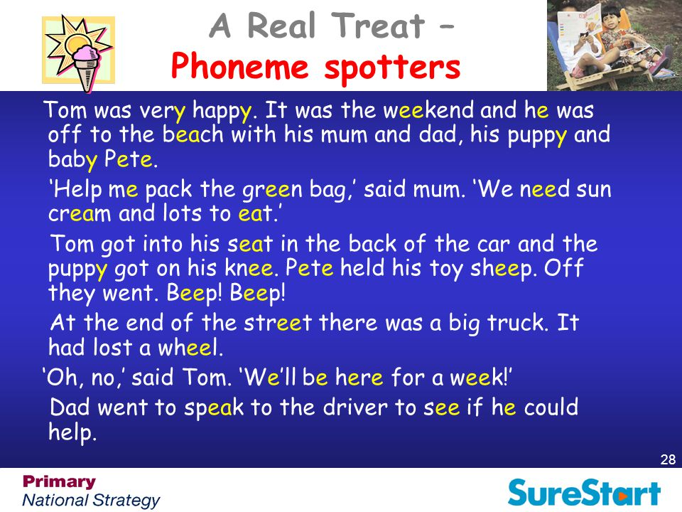 A Real Treat – Phoneme spotters