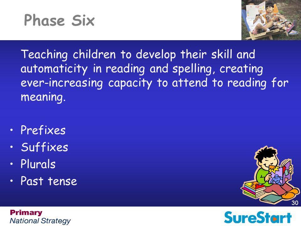 Phase Six Prefixes Suffixes Plurals Past tense