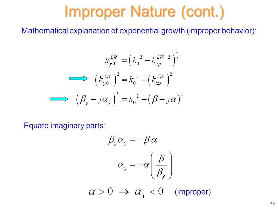 Improper Nature (cont.)