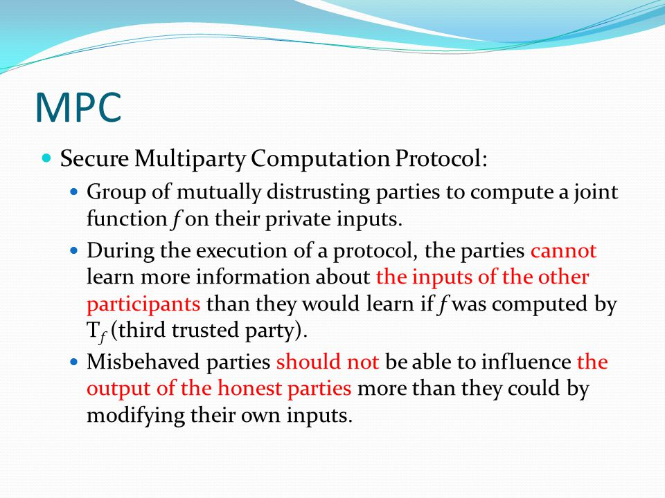 MPC Secure Multiparty Computation Protocol: