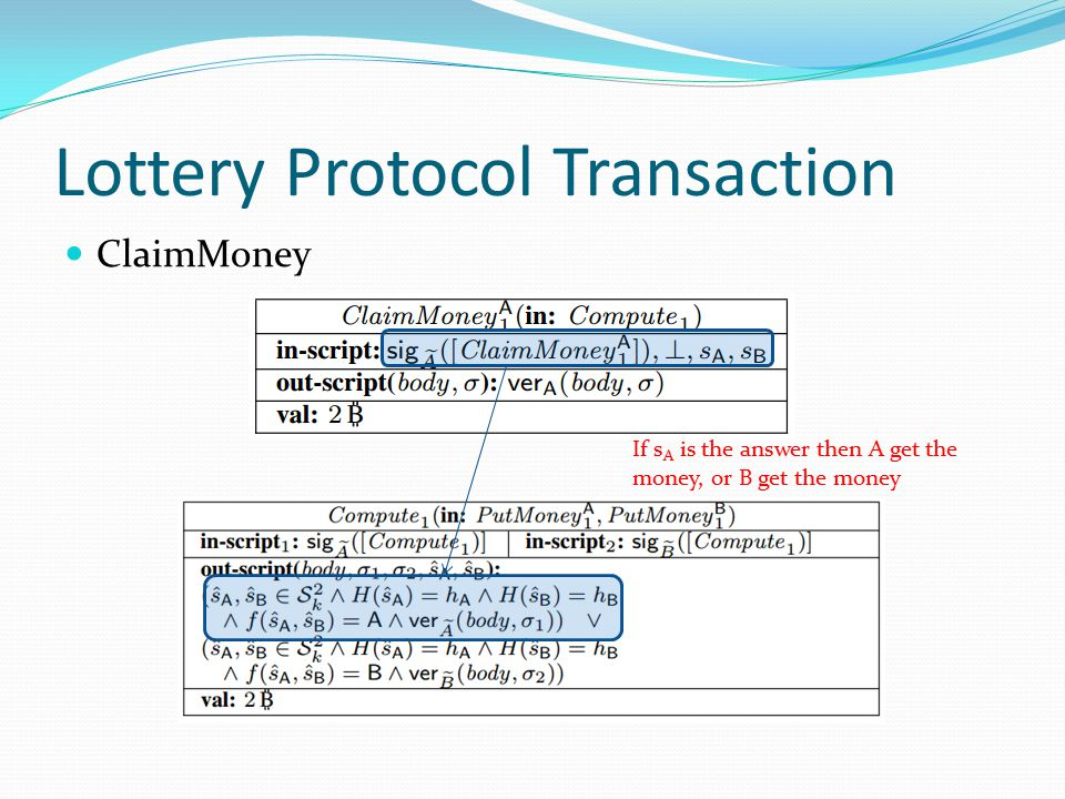Lottery Protocol Transaction