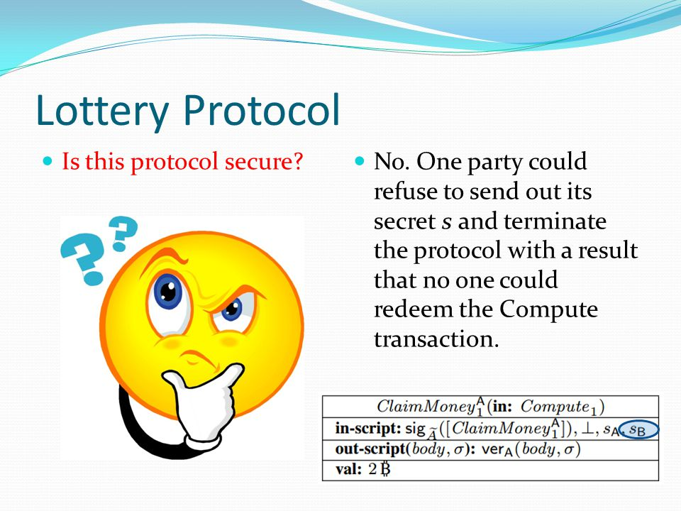 Lottery Protocol Is this protocol secure