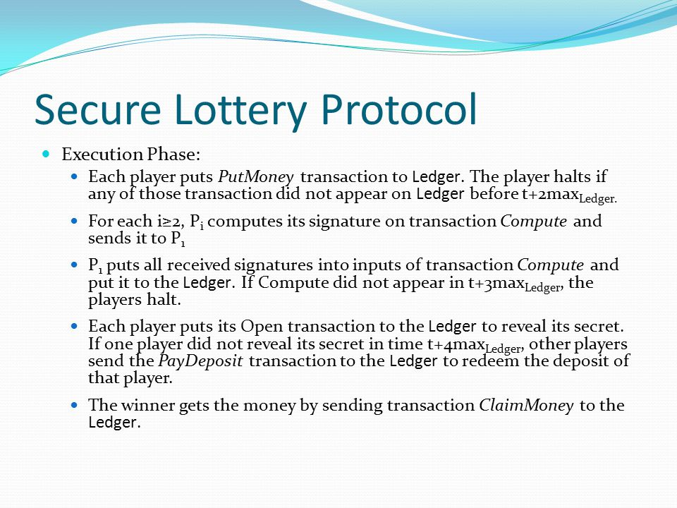 Secure Lottery Protocol