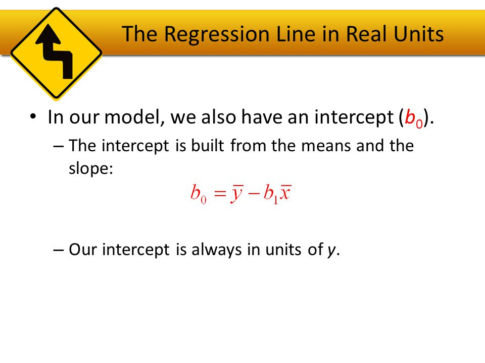 The Regression Line in Real Units