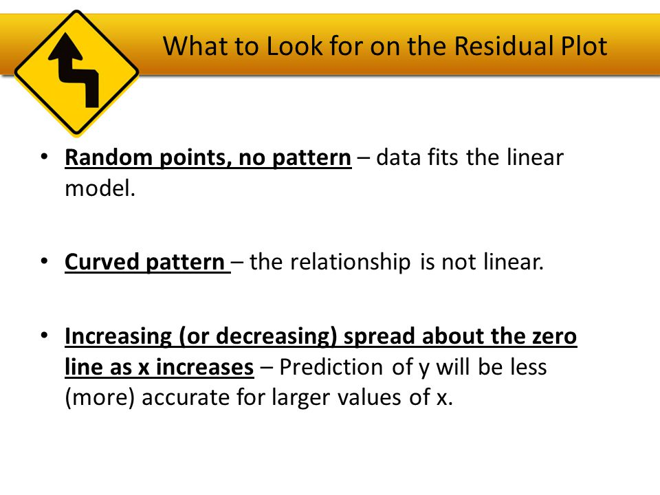 What to Look for on the Residual Plot