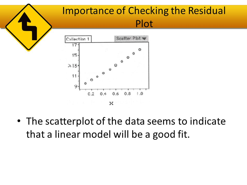 Importance of Checking the Residual Plot