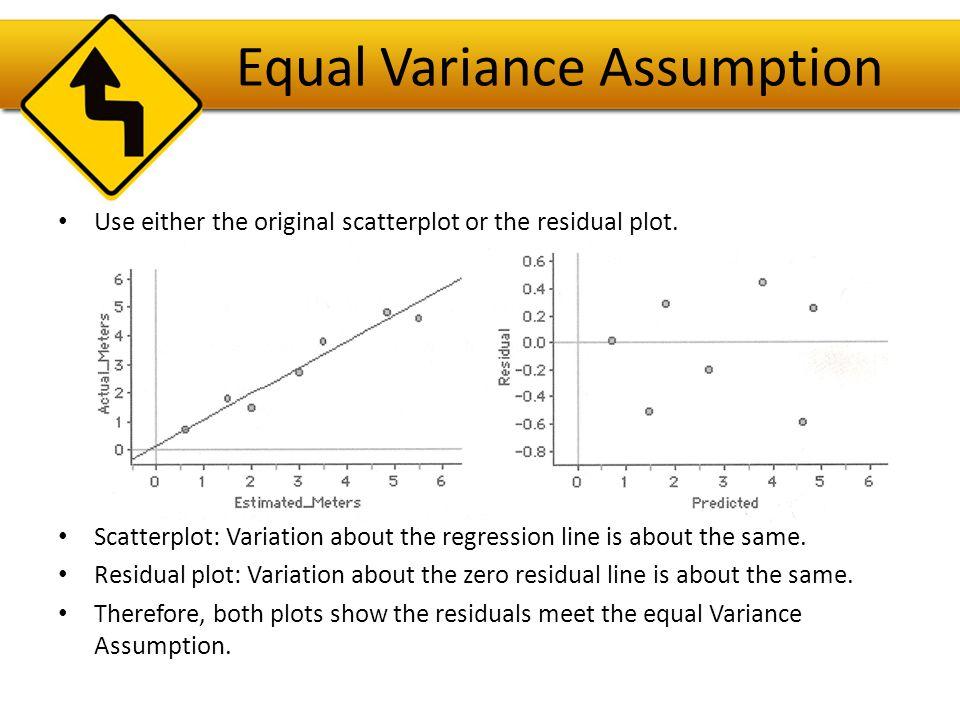 Equal Variance Assumption