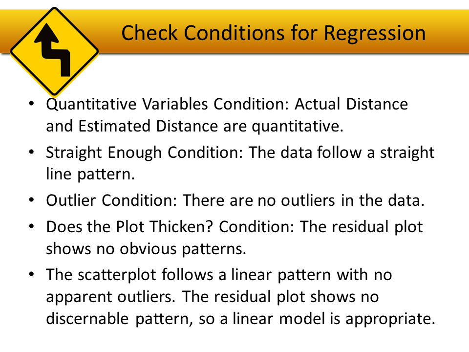 Check Conditions for Regression