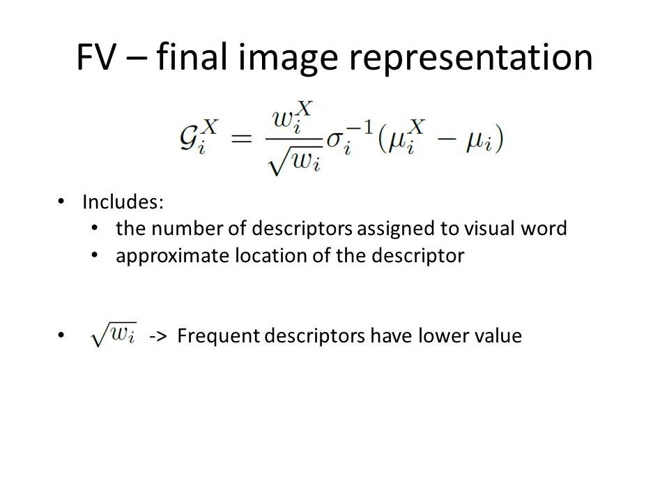 FV – final image representation