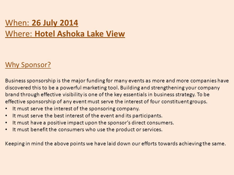 Where: Hotel Ashoka Lake View