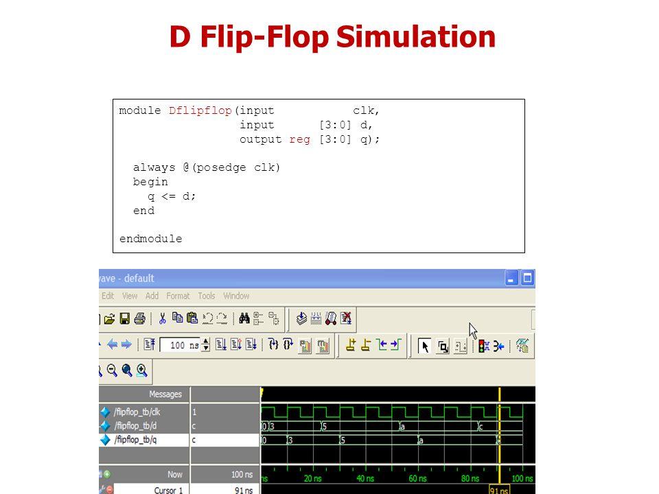 D Flip-Flop Simulation