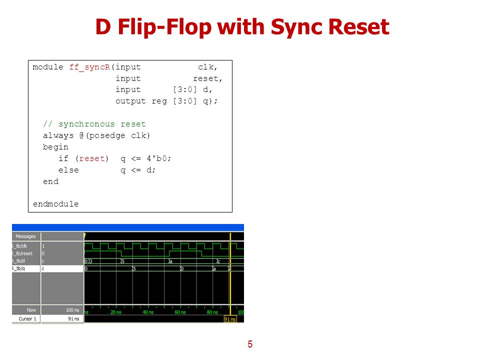 D Flip-Flop with Sync Reset