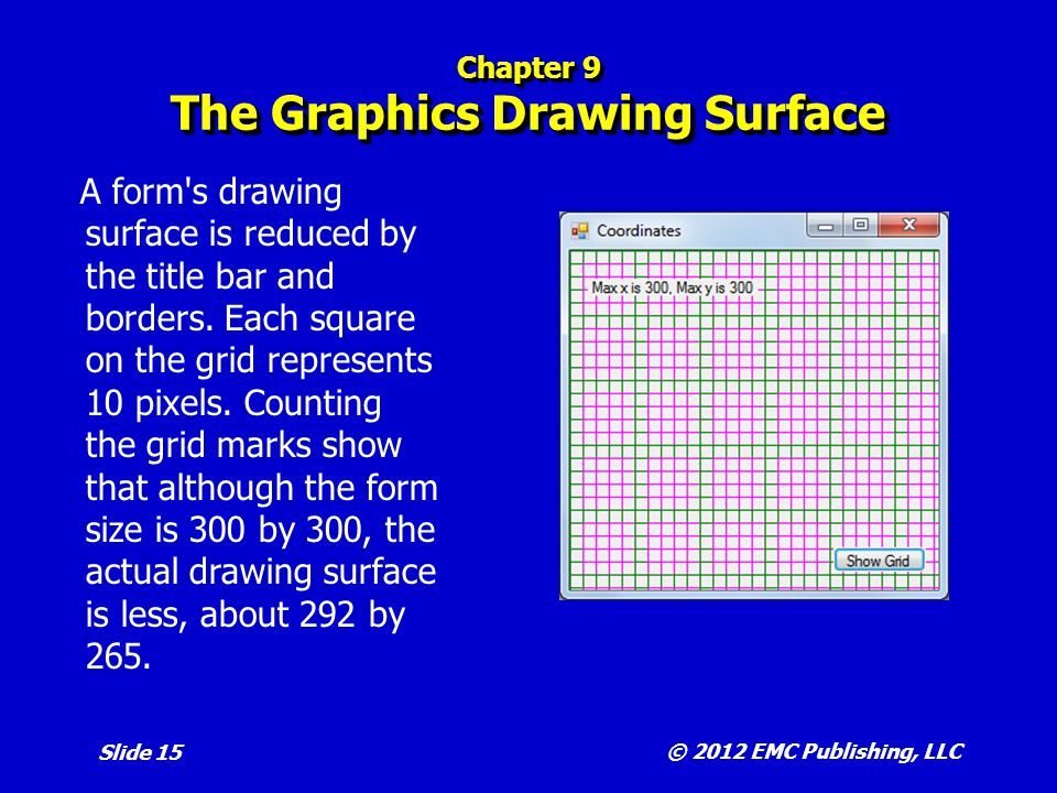 Chapter 9 The Graphics Drawing Surface