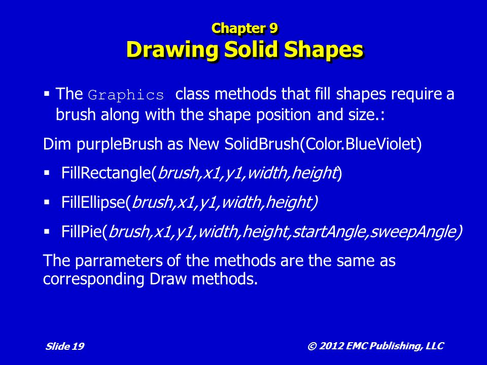 Chapter 9 Drawing Solid Shapes