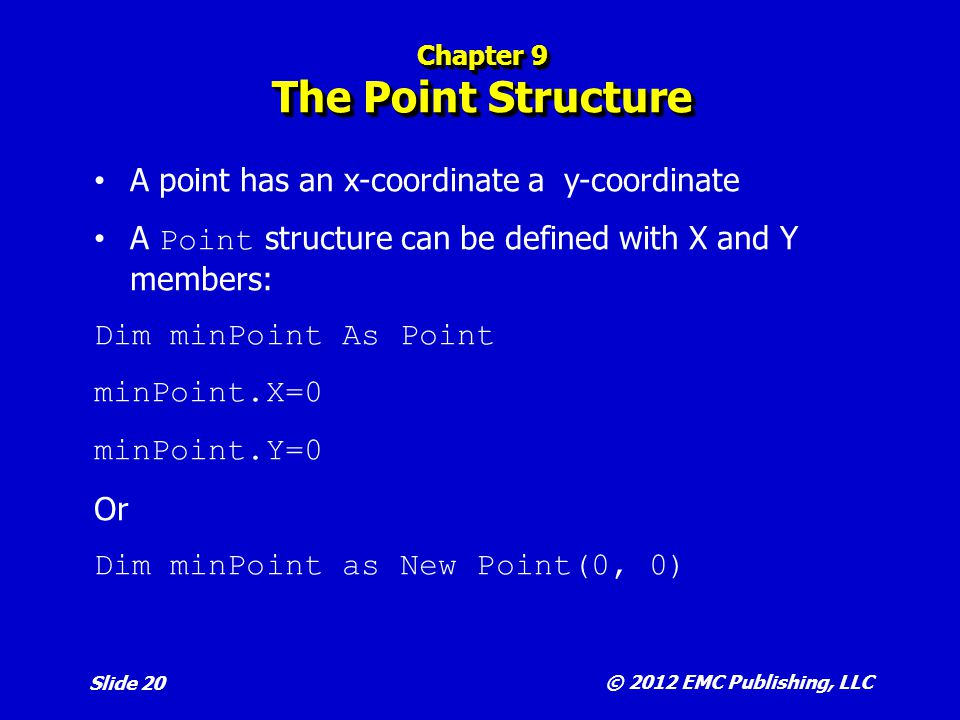 Chapter 9 The Point Structure