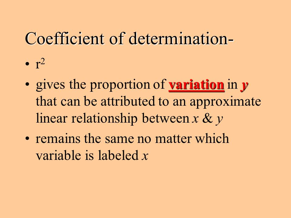 Coefficient of determination-