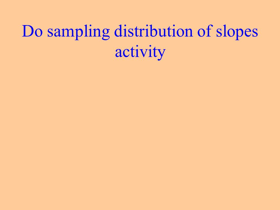 Do sampling distribution of slopes activity
