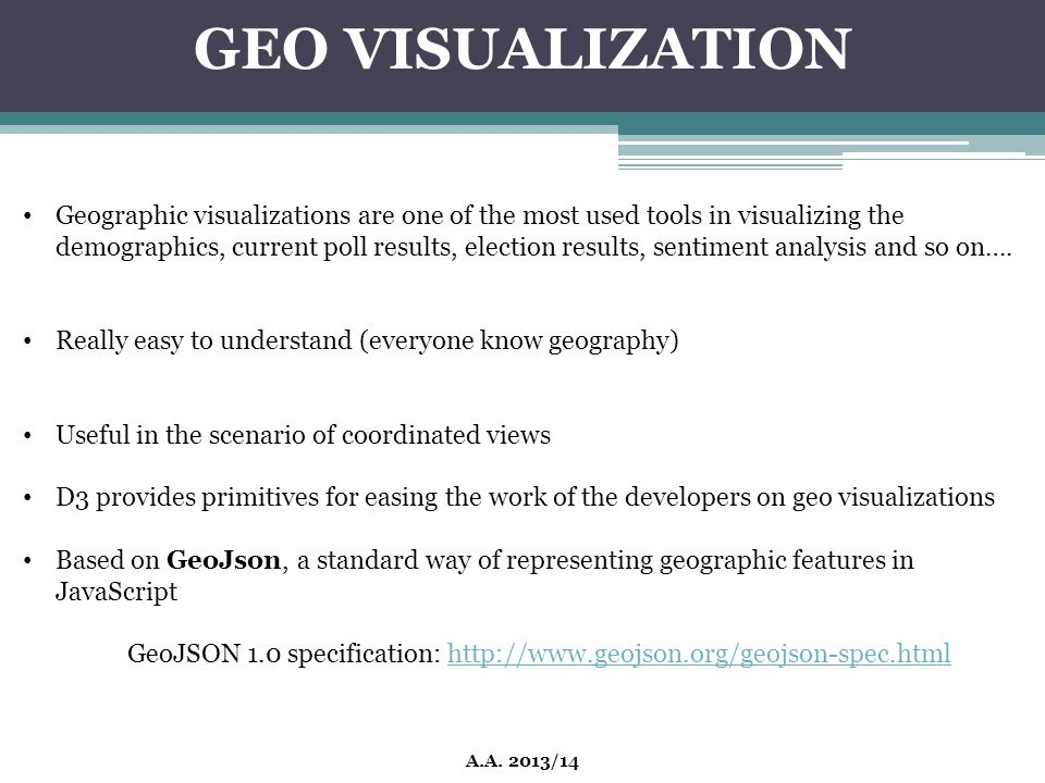 GEO VISUALIZATION