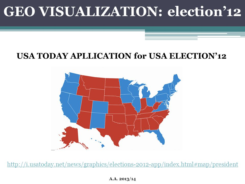 GEO VISUALIZATION: election'12