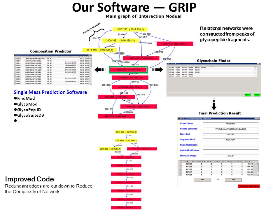 Our Software — GRIP Improved Code Single Mass Prediction Software