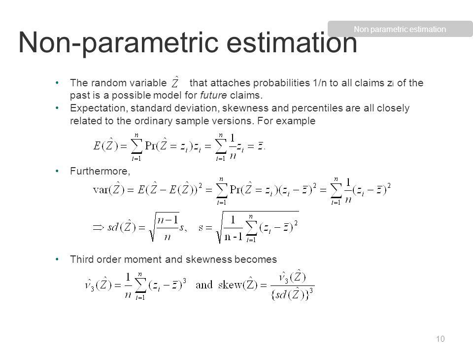 Non-parametric estimation