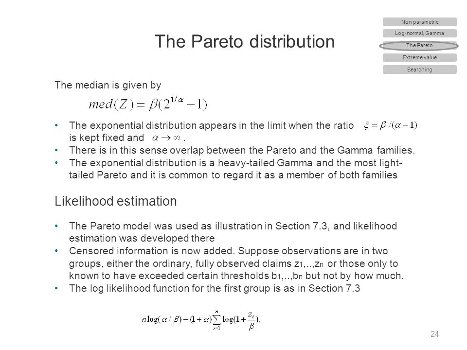 The Pareto distribution